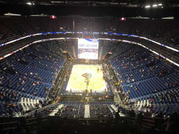 Smoothie King Center, secção: 324, fila: 18, lugar: 7