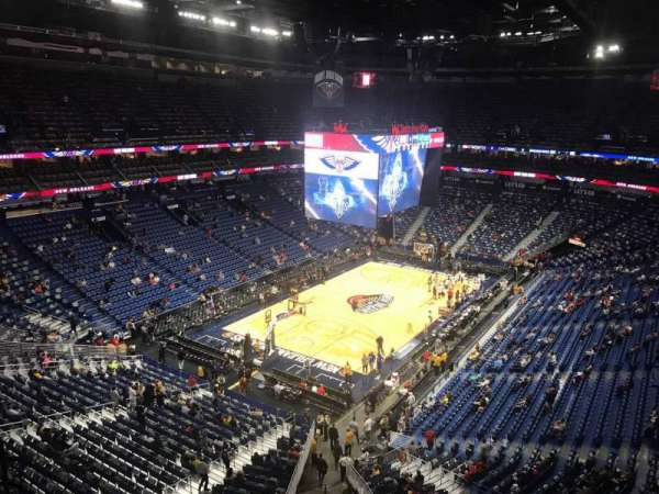 Smoothie King Center, secção: 321, fila: 8, lugar: 13
