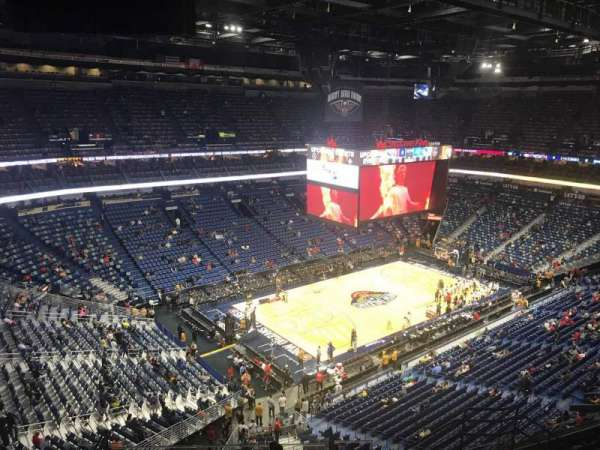 Smoothie King Center, secção: 320, fila: 11, lugar: 9