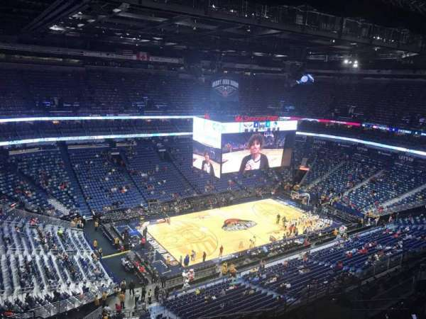 Smoothie King Center, secção: 319, fila: 14, lugar: 16