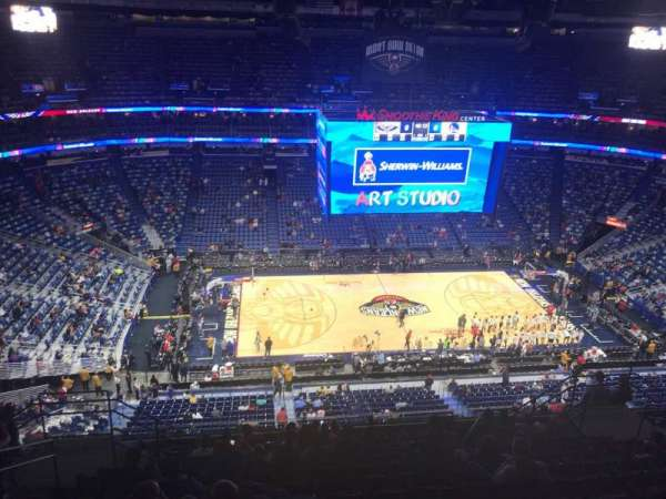 Smoothie King Center, secção: 317, fila: 14, lugar: 14
