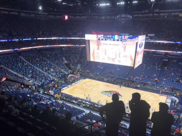 Smoothie King Center, secção: 314, fila: 7, lugar: 18