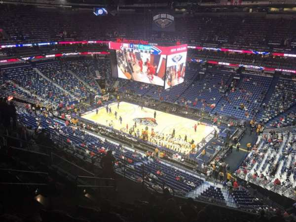 Smoothie King Center, secção: 313, fila: 12, lugar: 14