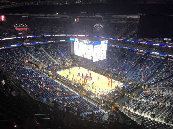 Smoothie King Center, secção: 312, fila: 17, lugar: 14