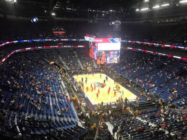 Smoothie King Center, secção: 310, fila: 8, lugar: 15