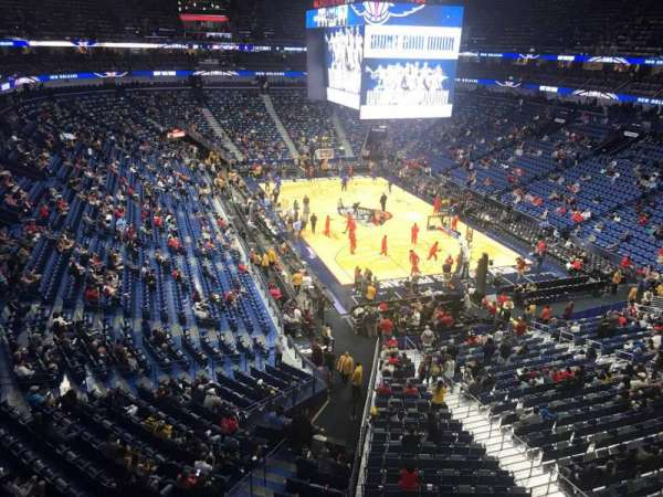 Smoothie King Center, secção: 310, fila: 1, lugar: 1