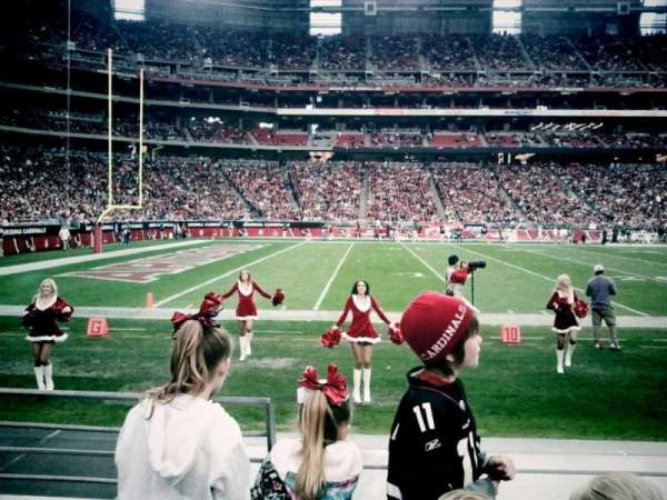 State Farm Stadium, secção: 112, fila: 3, lugar: 18