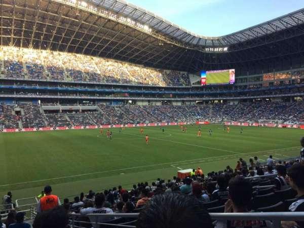 Estadio BBVA Bancomer, secção: 101, fila: P, lugar: 1