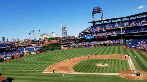Citizens Bank Park, secção: 227, fila: 4, lugar: 1