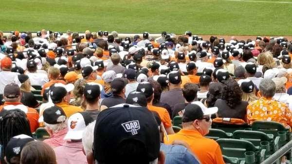 Oriole Park at Camden Yards, secção: 13, fila: 1, lugar: 16