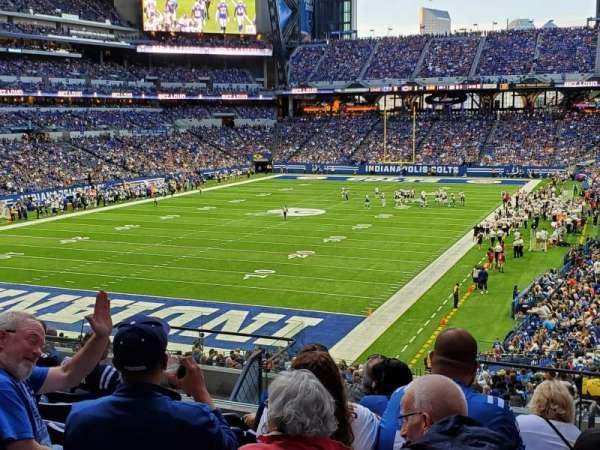 Lucas Oil Stadium, secção: 223, fila: 11, lugar: 6
