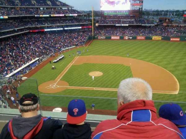 Citizens Bank Park, secção: 315, fila: 3, lugar: 22