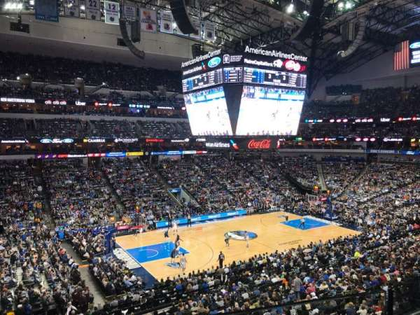 American Airlines Center, secção: 212, fila: A, lugar: 10