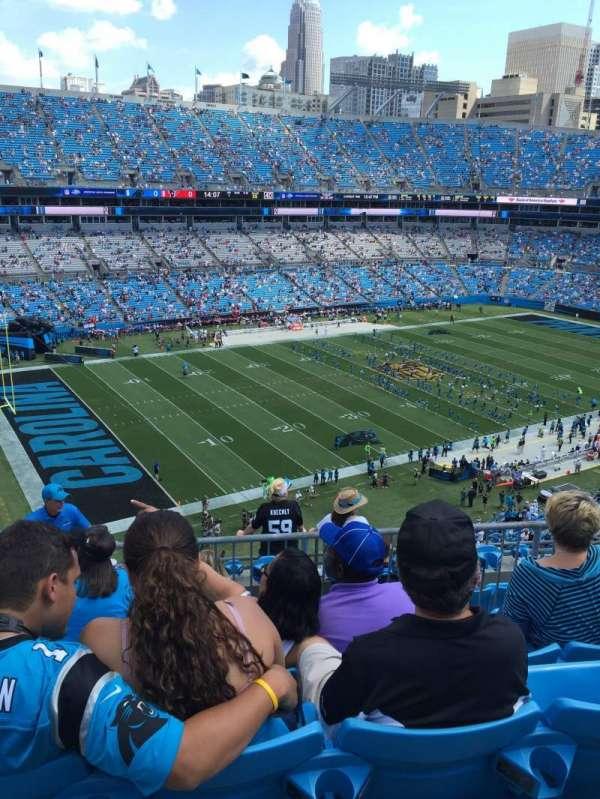 Bank Of America Stadium, secção: 547, fila: 4, lugar: 14