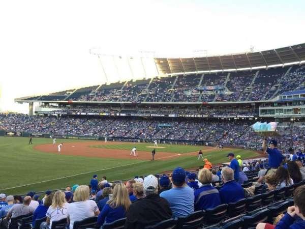 Kauffman Stadium, secção: 112, fila: S, lugar: 12