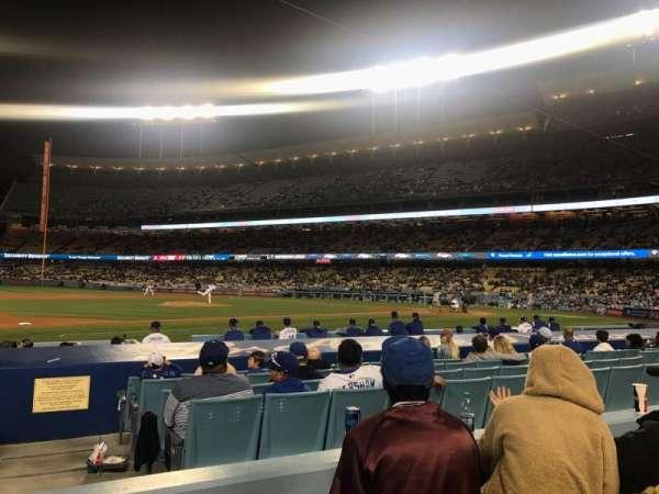 Dodger Stadium, secção: 25FD, fila: C, lugar: 1