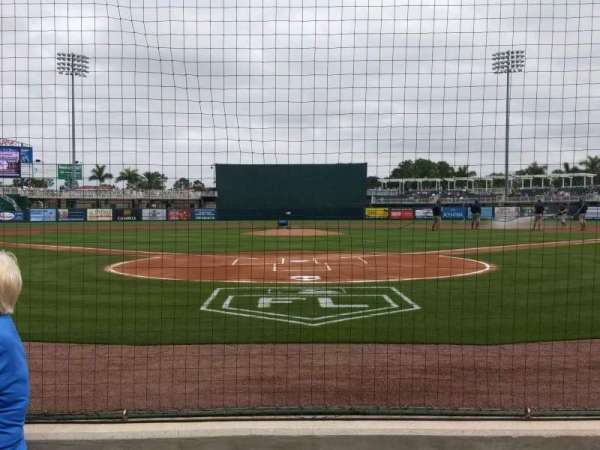 Hammond Stadium at CenturyLink Sports Complex, secção: 107, fila: 1, lugar: 6