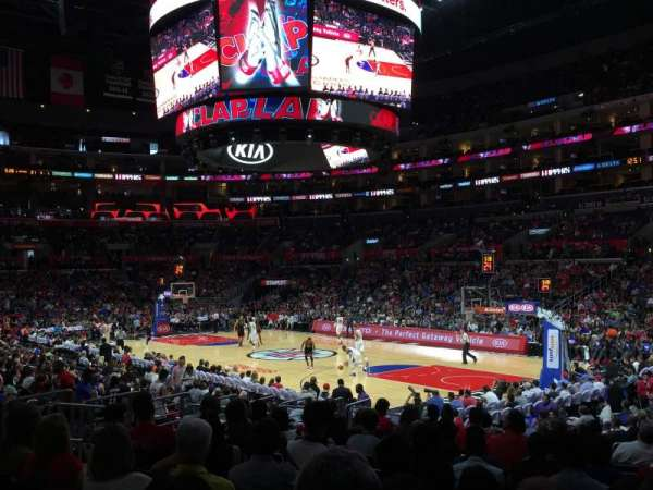 Staples Center, secção: 108, fila: 16, lugar: 19