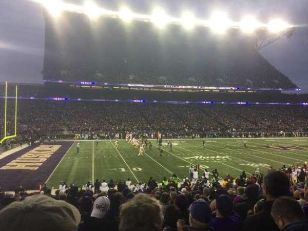 Husky Stadium, secção: 109, fila: 16, lugar: 6