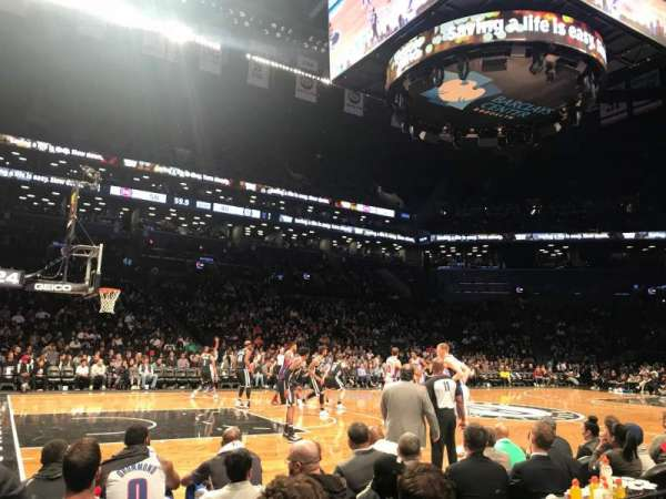 Barclays Center, secção: 25, fila: 1, lugar: 1