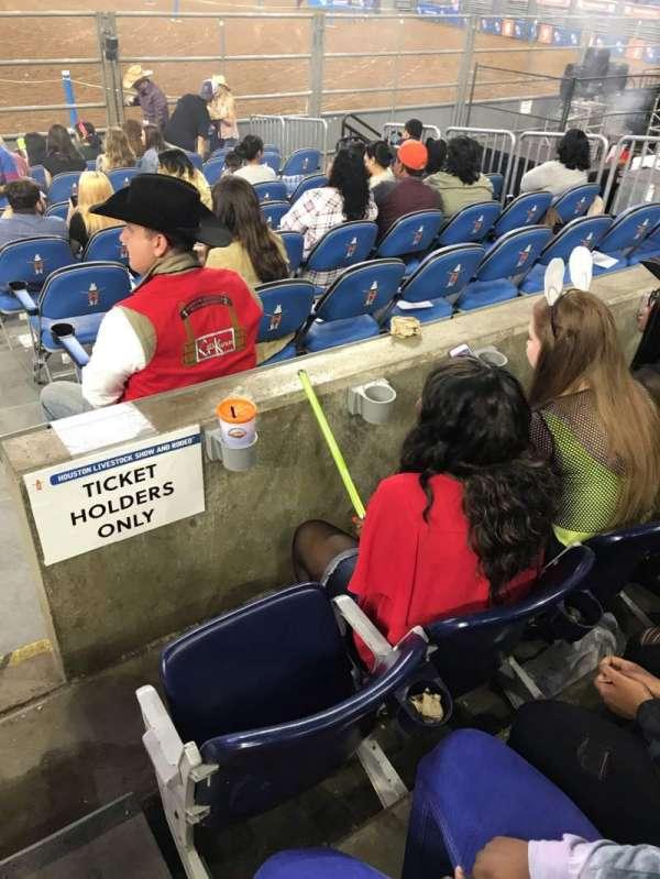 NRG Stadium, secção: 123, fila: A, lugar: 19