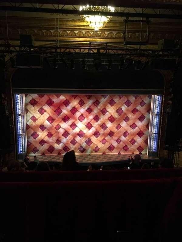 Brooks Atkinson Theatre, secção: Rear Mezzanine LC, fila: F, lugar: 109