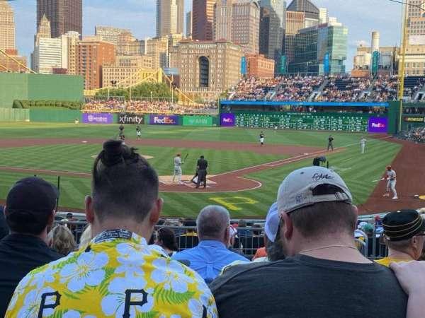 PNC Park, secção: 117, fila: K, lugar: 19
