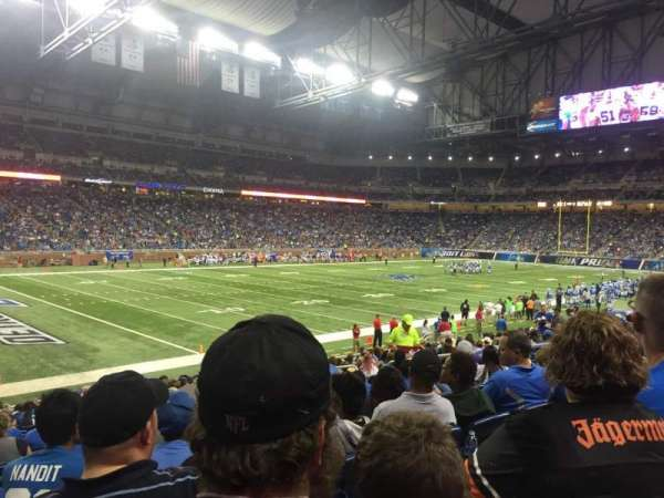 Ford Field, secção: 101, fila: 19, lugar: 7
