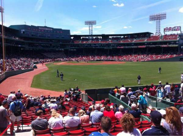 Fenway Park, secção: Right Field box 87, fila: Rr, lugar: 8