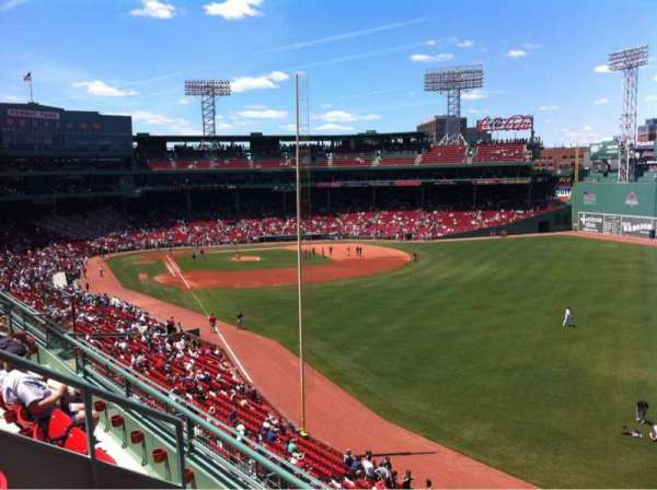 Fenway Park, secção: Right Field Roof Deck Box 41, fila: C, lugar: 1