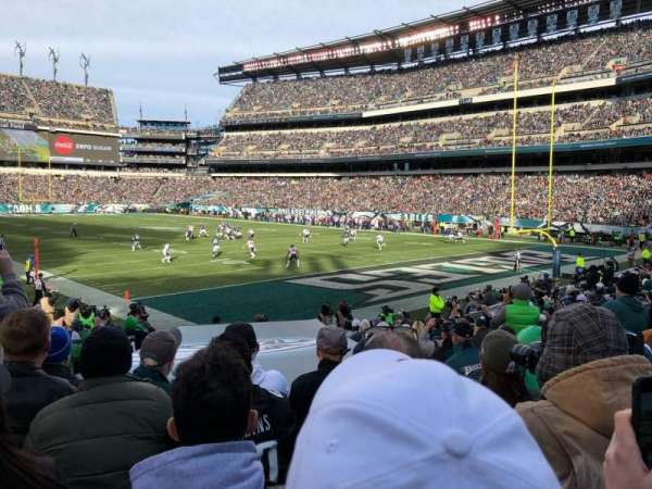 Lincoln Financial Field, secção: 107, fila: 15, lugar: 4