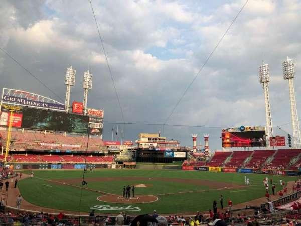 Great American Ball Park, secção: 124, fila: F, lugar: 13