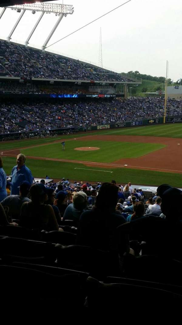 Kauffman Stadium, secção: 238, fila: NN, lugar: 7