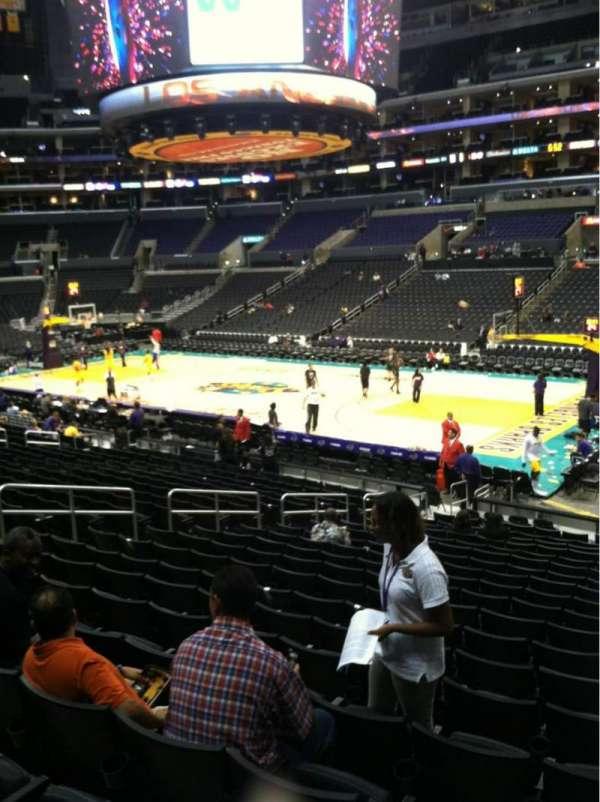Staples Center, secção: 118, fila: 20