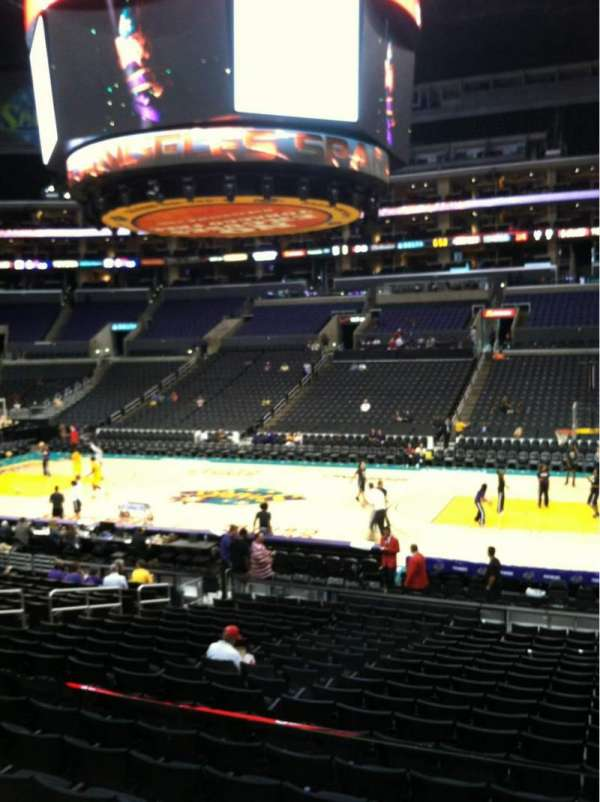 Staples Center, secção: 119, fila: 18w