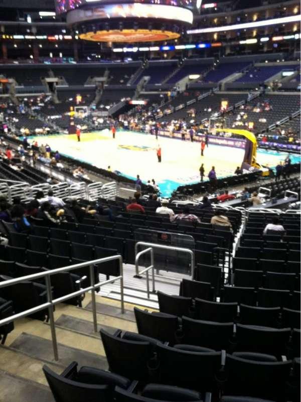 Staples Center, secção: 108, fila: 20, lugar: 13