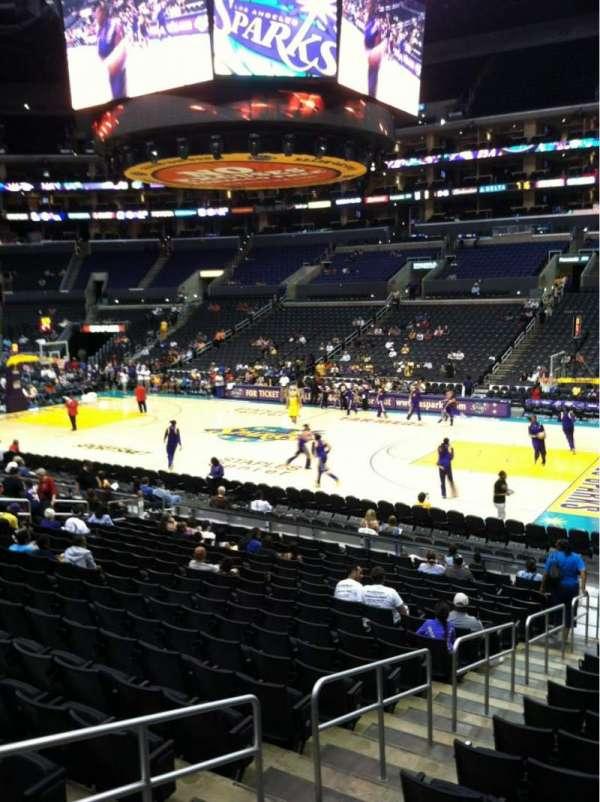Staples Center, secção: 109, fila: 18, lugar: 10