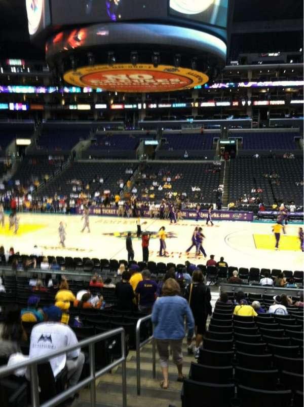 Staples Center, secção: 110, fila: 19, lugar: 20