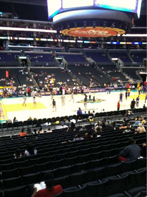 Staples Center, secção: 112, fila: 18, lugar: 14