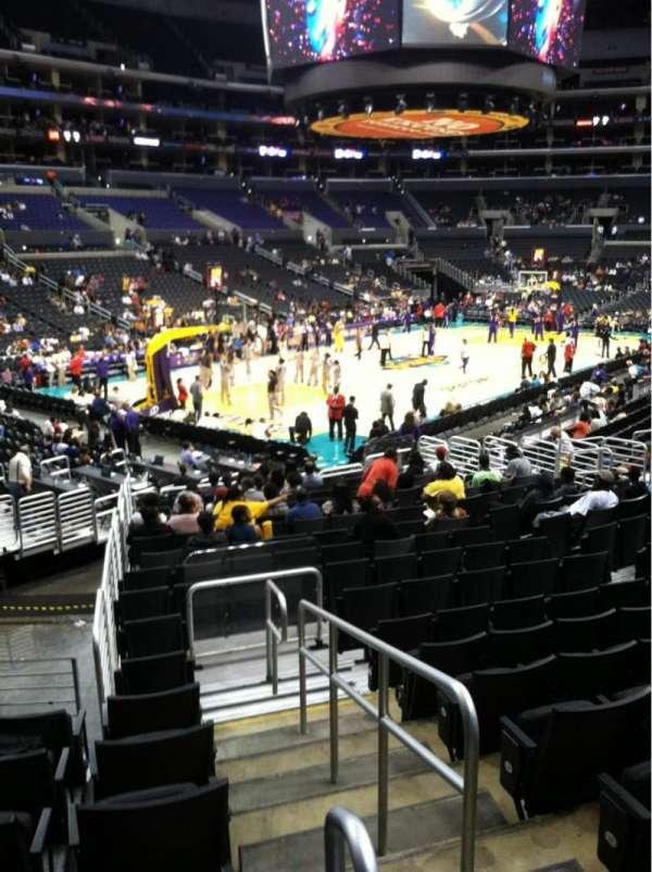 Staples Center, secção: 114, fila: 20, lugar: 19