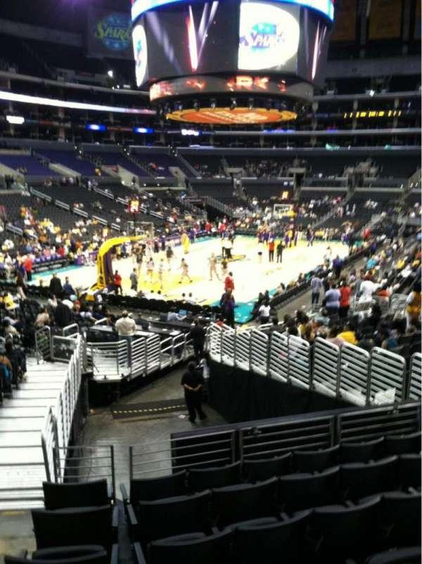 Staples Center, secção: 114, fila: 20, lugar: 33