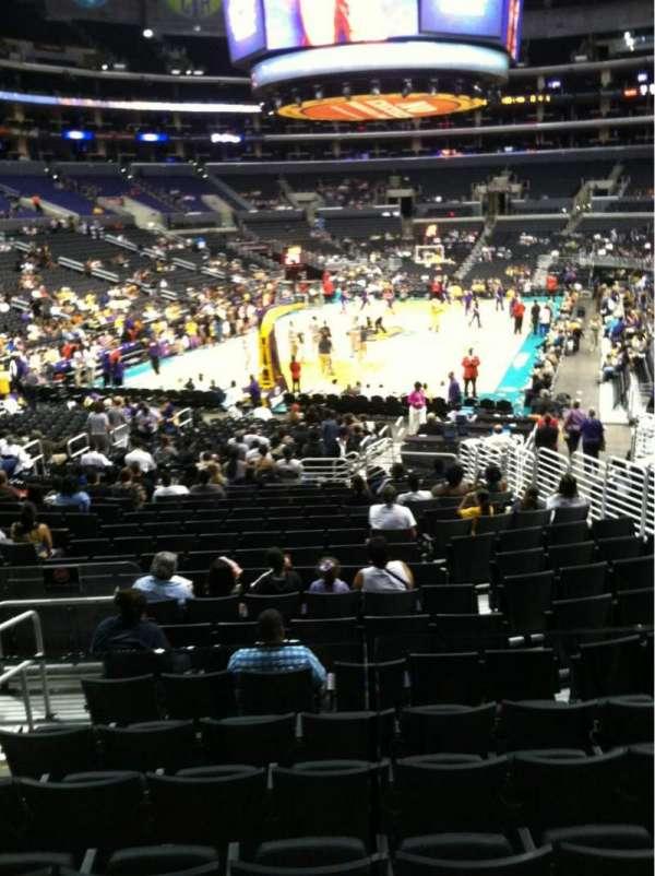 Staples Center, secção: 115, fila: 18, lugar: 10