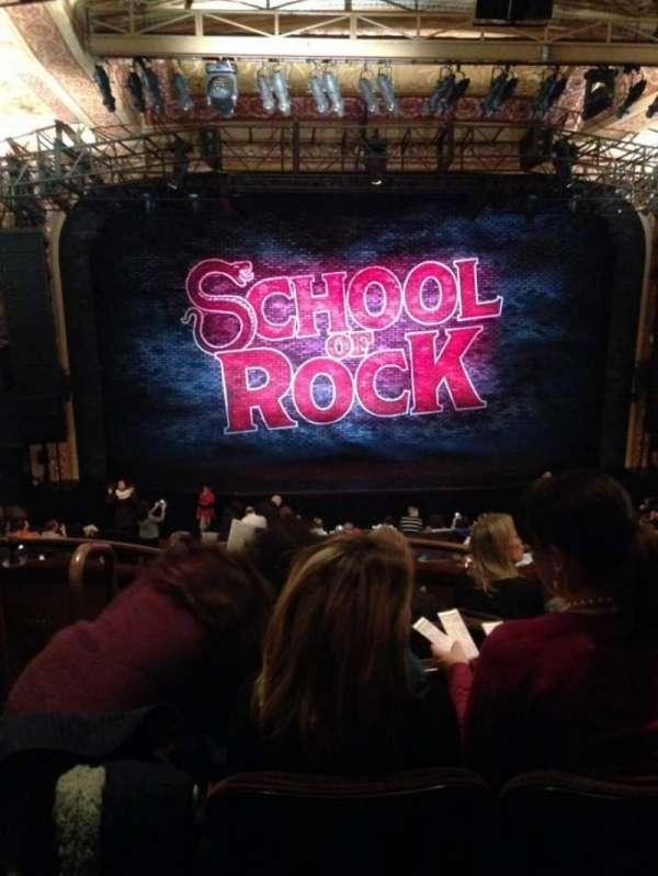 Winter Garden Theatre, secção: Mezzanine RC, fila: E, lugar: 102