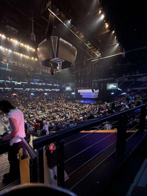 Bridgestone Arena, secção: 104, fila: P, lugar: 26