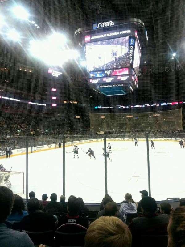 Nationwide Arena, secção: 108, fila: J, lugar: 108