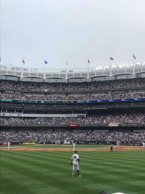 Yankee Stadium, secção: 103, fila: 4, lugar: 17