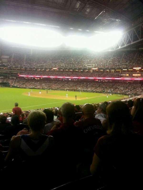 Chase Field, secção: 134, fila: 32, lugar: 7 and 8