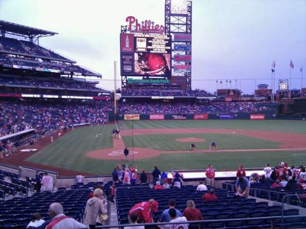 Citizens Bank Park, secção: 120, fila: 21, lugar: 4