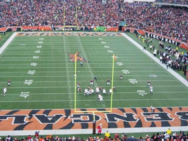 Paul Brown Stadium, secção: 226, fila: 4