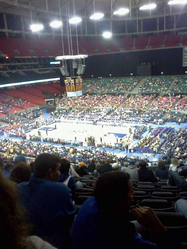 Georgia Dome, secção: 231, fila: 15, lugar: 5